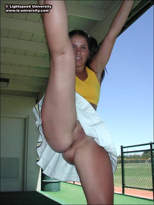 Has some upskirt cheerleader flashes she